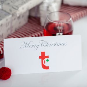 Christmas Card With A Cup Of Tea