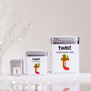 Christmas Cake Tea Caddies