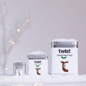 Christmas Pud Tea Caddies