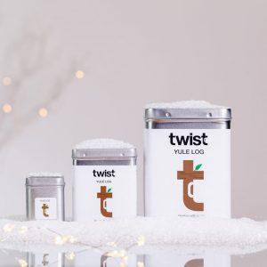 Yule Log Christmas Tea Caddies