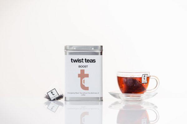 Twist Teas Boost tea in cup