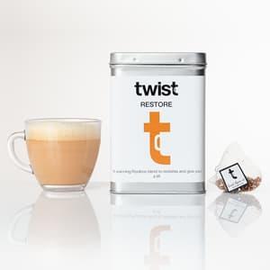 Twist Teas Restore Tea in cup