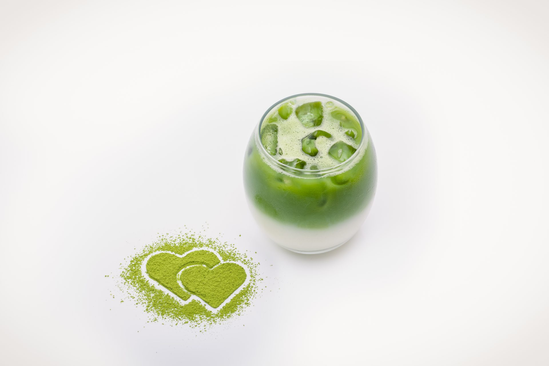 Party trick Layered Iced Matcha latte