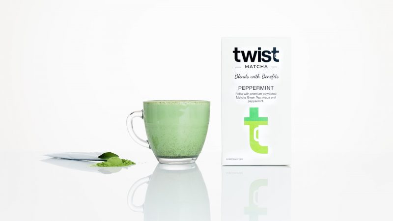 Twist Teas Peppermint Matcha Tea Sticks