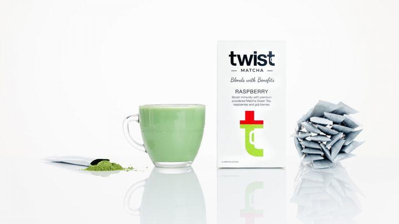 Twist Teas Raspberry Matcha Tea Sticks Brewed