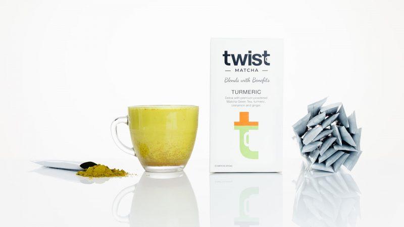 Twist Teas Turmeric Matcha Tea Sticks Brewed