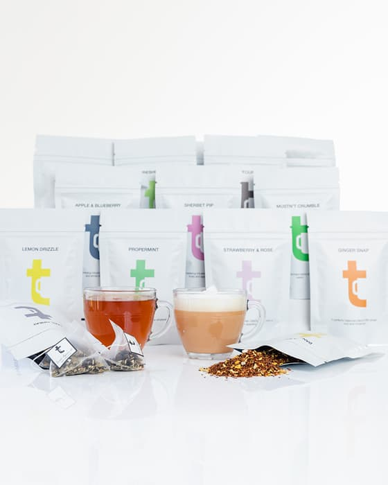 Different tea blends delivered through your letterbox each month